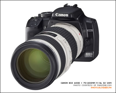 Canon EOS 400D with the 70-200mm f/4L IS USM
