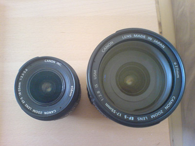 Canon 18-55 compared to Canon 17-55