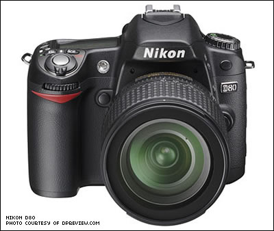 Nikon D80 (Photo courtesy of DPReview.com)