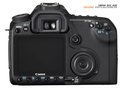 Canon EOS 40D - rear view.