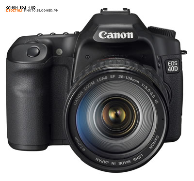Canon EOS 40D - front view.
